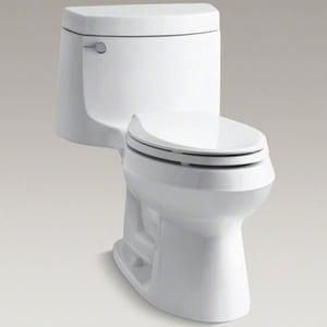 Superb Kohler Cimarron 1 28 Gpf Elongated One Piece Toilet 3828 Andrewgaddart Wooden Chair Designs For Living Room Andrewgaddartcom
