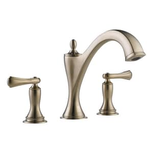 Brizo Charlotte No Handle Roman Tub Faucet in Brushed Nickel Trim Only DT67385BNLHP