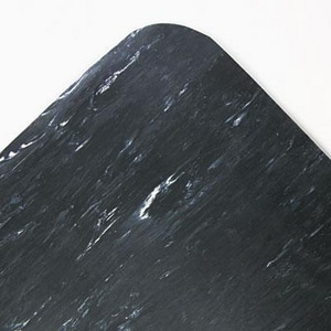 Cushion-Step® Vinyl Top Mat in Black LCU3660SBLA