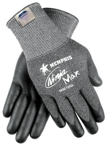 Memphis Glove Ninja® Max M Size Cutting Resistant Palm Gloves MN9676GM
