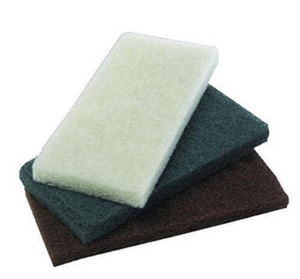19 in. Polish Floor Pad in White 5-Pack PAD4019WHI