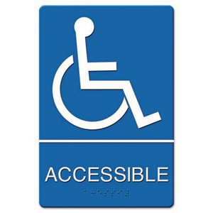 9 in. Wheelchair Accessible Sign UST4725