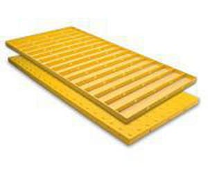ADA Solutions 24 x 60 in. Cast Dome Tile in Yellow A2460IDPAV2R