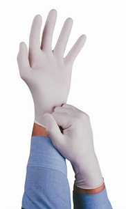 Ansell Occupational Healthcare Conform® XT L Size Disposable Latex Exam Gloves in White ANS813476