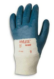 Ansell Occupational Healthcare HyLite® Size 9 Palm Coated Multi-Purpose Gloves in Blue and White ANS103454