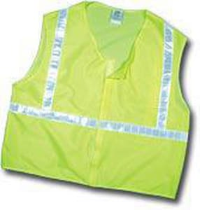 River City L Size Safety Vest Reflective Strip in Lime RCL2MLL