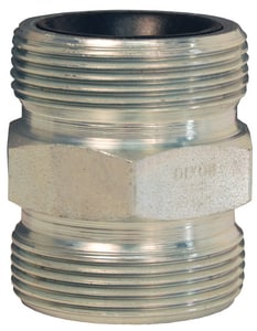 Dixon Valve & Coupling 2 in. Threaded Plated Iron Double Spud DGDB28C