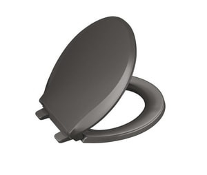 KOHLER Cachet® Round Closed Front Toilet Seat with Cover in Thunder Grey K4639-58