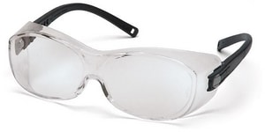 Pyramex Safety Products OTS Clear Lens Safety Goggle with Black Frame PS3510SJ