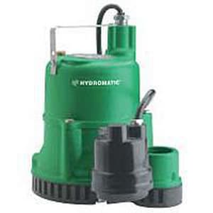 Hydromatic Pump 115 V 1/3 hp 10 ft. Cord Automatic Submersible Sump Pump HSW33A110
