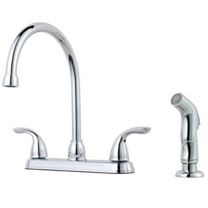 Pfister Pfirst Series™ Two Handle Kitchen Faucet in Polished Chrome PG1365000