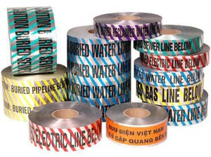 Pro-Pak Industries 6 in. x 300 ft. Water Detectable Tape PDMTWTRWSSC