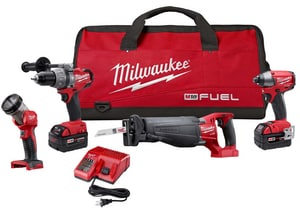 Milwaukee M18™ Cordless 18V Reciprocating Saw 4 Tool Kit M279624