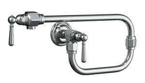 Kohler HiRise™ Two Handle Lever Handle Pot Filler in Polished Stainless K7322-4-S