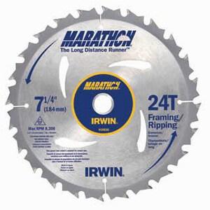 Irwin Industrial Tool Marathon® 7-1/4 in. 24 TPI Carbide-Tipped Circular Saw Blade I14030