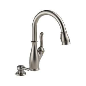 Delta Faucet Leland® 4-Hole Kitchen Faucet with Single Lever Handle in Brilliance Stainless D19978SSSDDST