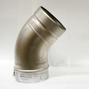 Noritz America 4 in. Stainless Steel N-Vent 45 Degree Elbow NVP45ELBOW