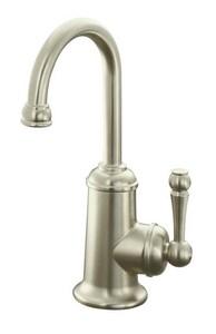 Kohler Wellspring® 1-Hole Beverage Faucet with Aquifer and Single Lever Handle in Vibrant Brushed Nickel K6666-F-BN