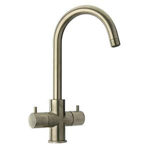 Fortis 1-Hole Prep or Bar Faucet with Double Lever Handle in Brushed Nickel F7849000BN