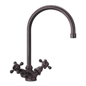 Fortis 1-Hole Double Cross Handle Prep or Bar Faucet in Tuscan Bronze F8857200TB