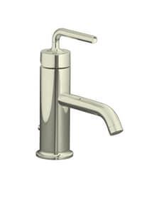 KOHLER Purist® Single Handle Monoblock Bathroom Sink Faucet in Vibrant Polished Nickel K14402-4A-SN