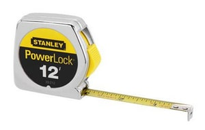 Stanley PowerLock® 3/4 in. x 12 ft. Tape Rule in Polished Chrome S33312