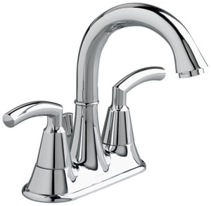 American Standard Tropic® Two Handle Centerset Bathroom Sink Faucet in Polished Chrome A7038201002