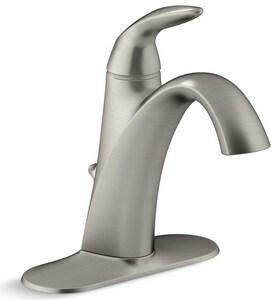 KOHLER Alteo® Single Handle Monoblock Bathroom Sink Faucet in Vibrant Brushed Nickel K45800-4-BN