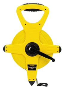 Stanley PowerWinder® 300 ft. x 1/2 in. Fiberglass Long Tape in Black and Yellow S34762 at Pollardwater