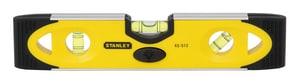 Stanley 9 in. 3-Lights Magnetic Torpedo Aluminum Level S43512