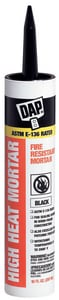 DAP 10 oz. Stove and Fireplace Mortar Caulk in Black D18854