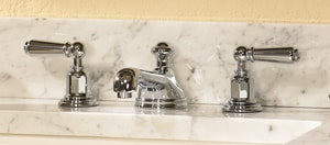 ROHL® Perrin & Rowe® Two Handle Widespread Bathroom Sink Faucet in Polished Nickel RU3705LPN2