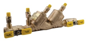 Apollo Conbraco 4NLF-300 Series 1 in. Bronze Female and Meter and Swivel x FNPT 175 psi Backflow Preventer A4NLF3S55A