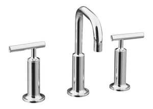 Kohler Purist® Two Handle Widespread Bathroom Sink Faucet in Polished Chrome K14407-4-CP