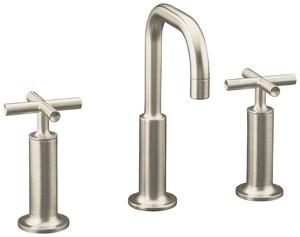 Kohler Purist® Widespread Bathroom Sink Faucet with Double Cross Handle K14407-3