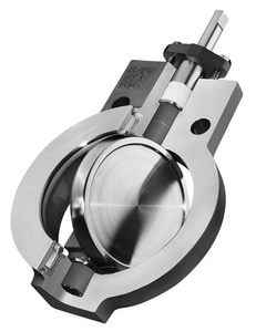 Durco-Brand of Flowserve Big Max BX2001 6 in. Stainless Steel PFA Lever Handle Butterfly Valve DBX2L1111A1V0ZU