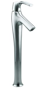 Kohler Symbol® Tower Bathroom Sink Faucet with Single Lever Handle in Polished Chrome K19909-4-CP