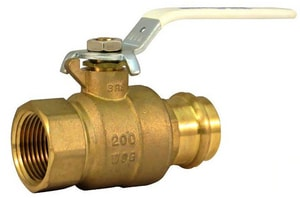 Milwaukee Valve UPBA490B Forged Brass Full Port Press x Threaded 200# Ball Valve MUPBA490B