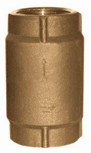 Simmons Manufacturing 500 SB Series Silicon Bronze Female Threaded Check Valve SI50SB