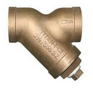 Titan Flow Control YS 55-BZ 125# Bronze Threaded Mesh Wye Strainer TYS55BZM