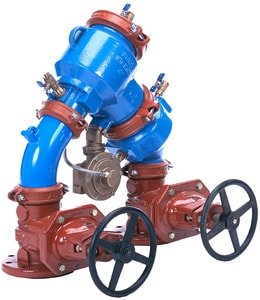 Zurn Wilkins 475 10 in. Epoxy Coated Ductile Iron Flanged 175 psi Backflow Preventer W47510