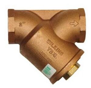 Wilkins Regulator YBXL Series 1-1/2 x 1-1/2 x 1-1/2 in. Threaded Brass, Cast Bronze and Stainless Steel Wye Strainer WYBXLCJ