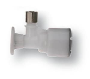 Accor Technology FlowTite® 1/2 in x 1/4 in Pull Handle Angle Supply Stop Valve in White AFPO52XF
