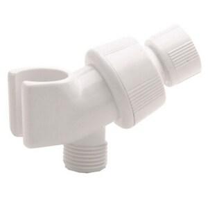 Alson's Adjustable Shower Arm Mount for Hand Shower in White D3401PK