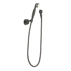 Moen Hand Shower Package with Hose and Integrated Dual-Check Valve in Pewter M3861