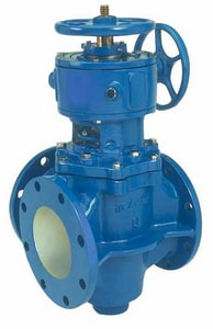 Dezurik 4 in. Cast Iron 175 psi Flanged Plug Valve D202FEL
