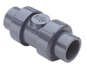 True Union - Regular 1-1/2 in. PVC Threaded Check Valve S2239