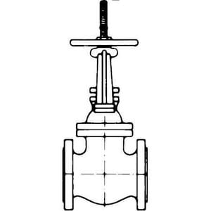 Crane Valve/Crane Energy Flow Sol Figure 7 1/2E 2-1/2 in. Cast Iron Flanged Gate Valve C712E