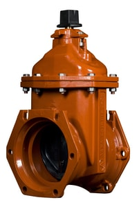 American Flow Control 2500 Series 4 in. Mechanical Joint Ductile Iron Open Left Resilient Wedge Gate Valve AFC2504MMLAOL