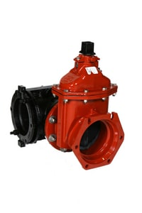 American Flow Control-Acipco 2500 Series 4 in. Flanged x Mechanical Joint Ductile Iron Waterworks Tapping Valve AFC26ALAGTMU